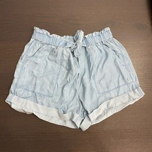 NWT Aerie High Rise Paper Bag Shorts Large